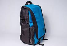 """Сумка - рюкзак """"PACE"""" (черно-бирюзовый), фото 2"""