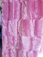 Покрывало Норка двухстороннее 220*240.Розовый.