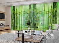 "3D - Фото Шторы и тюль ""Зеленый бамбук"" (шторы 2,5м*2,9м, тюль 2,5м*3,0м), фото 1"
