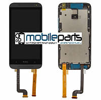 Оригинальный Дисплей (Модуль) + Сенсор (Тачскрин) для HTC 601 Desire | 601 Dual Sim (С рамкой) (Черный)