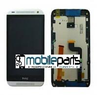 Оригинальный Дисплей (Модуль) + Сенсор (Тачскрин) для HTC 601 Desire | 601 Dual Sim (С рамкой белой) (Черный)