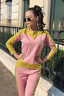 Женский костюм из плотного трикотажа-джерси