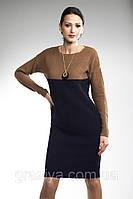 Элегантное вязаное женское платье