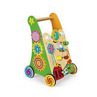 Деревянные ходунки-каталка Viga Toys, детский развивающий центр, игровой центр , бизиборд