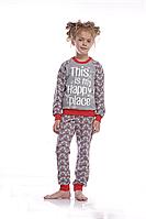 Пижама для девочки GNP 017/002 *(92-116)(ELLEN). Новинка осень-зима 2018