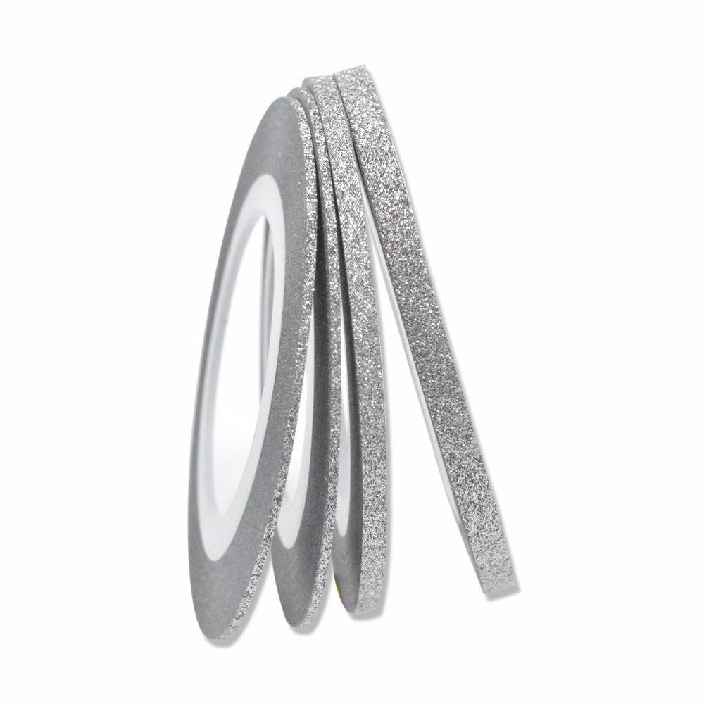 Сахарная нить для ногтей в рулоне, серебро -2мм