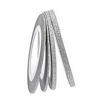 Сахарная нить для ногтей в рулоне, серебро -2мм, фото 1