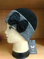 Scarlet зимняя женская шапка Kamea, шерстяная, черный цвет, фото 1