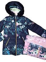 Пальто для девочки на меху,размеры 4 Lemon Tree, арт. YY 2725