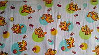 Ткань фланель детская для пеленок ш.180 см Котики