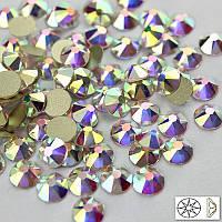 Стразы Crystal AB размер ss20 NoHotFix огранка Xirius, звёздочка