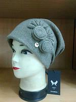 Зимняя женская шапка  Pilar Kamea, шерстяная, темный беж цвет, фото 1