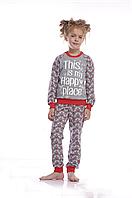 Пижама для девочки  GNP 017/002 * (122-140 р.)(ELLEN). Новинка осень-зима 2018