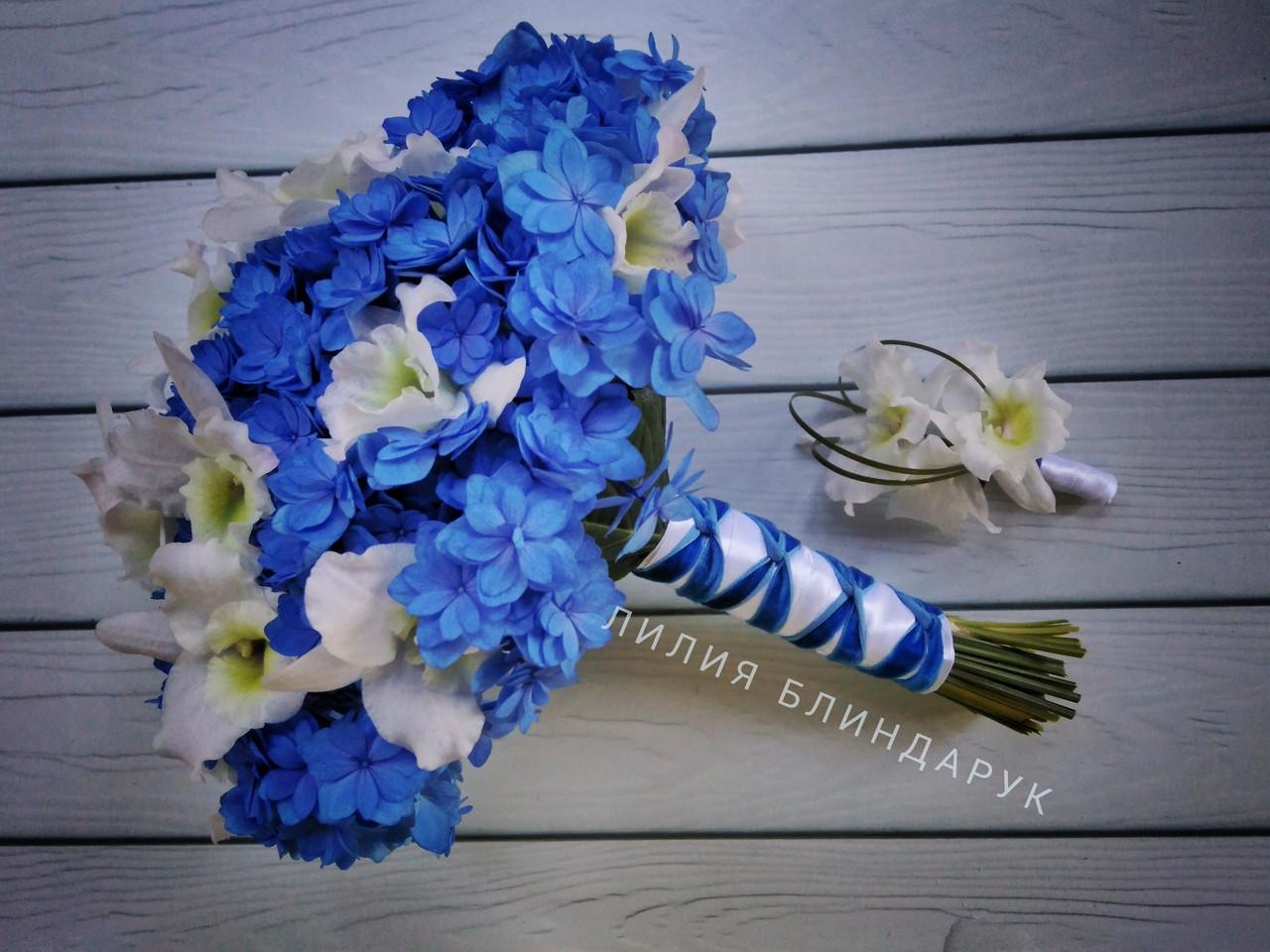 Букет лилия с орхидея цимбидиум свадебный роз букет цена