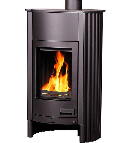 Отопительная печь-камин длительного горения Masterflamme Grande I (черный)