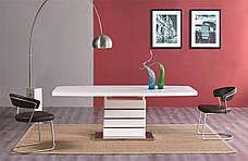 Стол В2406 Exm, столешница белая стекло /ноги белые, фото 2