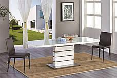Стол В2406 Exm, столешница белая стекло /ноги белые, фото 3