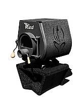 Отопительная конвекционная печь Rud Pyrotron Кантри 00 с варочной поверхностью Обшивка декоративная (бордовая)