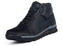 Кожаные зимние черные спортивные мужские ботинки Mida 14049