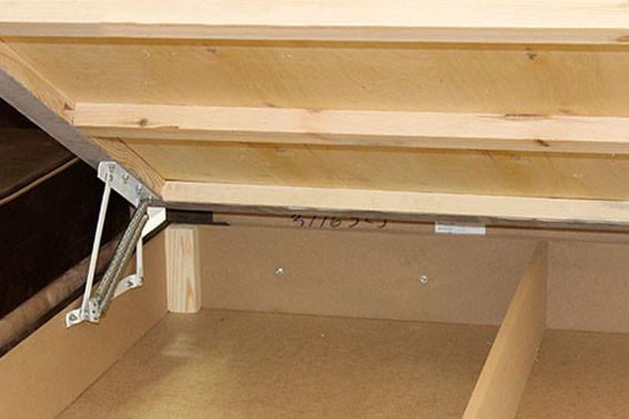 кровать с подъемным механизмом и ящиком для белья