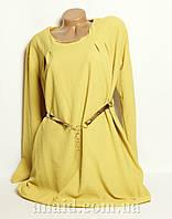 Женская блуза-туника баталл  в камнях