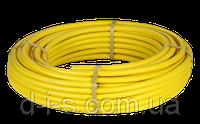 Труба гофрированная для газа из нержавеющей стали SS304 DISPIPE 20HFPY, отожженная в желтой оболочке