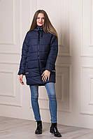 Зимняя женская куртка WONDER темно-синего цвета  БЕСПЛАТНАЯ ДОСТАВКА!!!