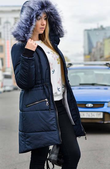 Женская парка куртка на меху зимняя (теплая)