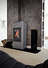 Отопительная печь-камин длительного горения AQUAFLAM 12 (водяной контур, ручная рег, серый), фото 7