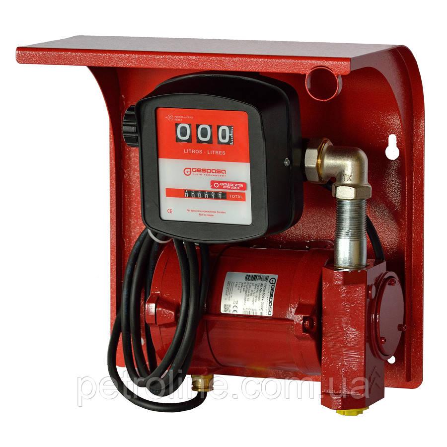Насос для заправки, перекачки бензина, керосина, ДТ со счетчиком SAG-600, 24В, 45-50 л/мин