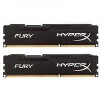 Оперативная память для компьютера 4Gb DDR3, 1600 MHz (PC3-12800), Kingston HyperX Fury Black, 10-10-10-28, 1.5V, с радиатором (HX316C10FB/4)