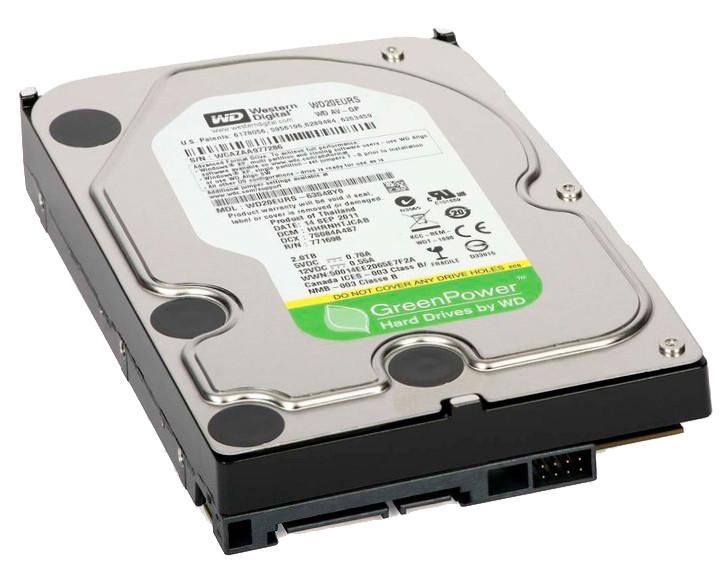 Жесткий диск для компьютера 2 Тб Western Digital AV-GP, SATA 2, 64Mb,