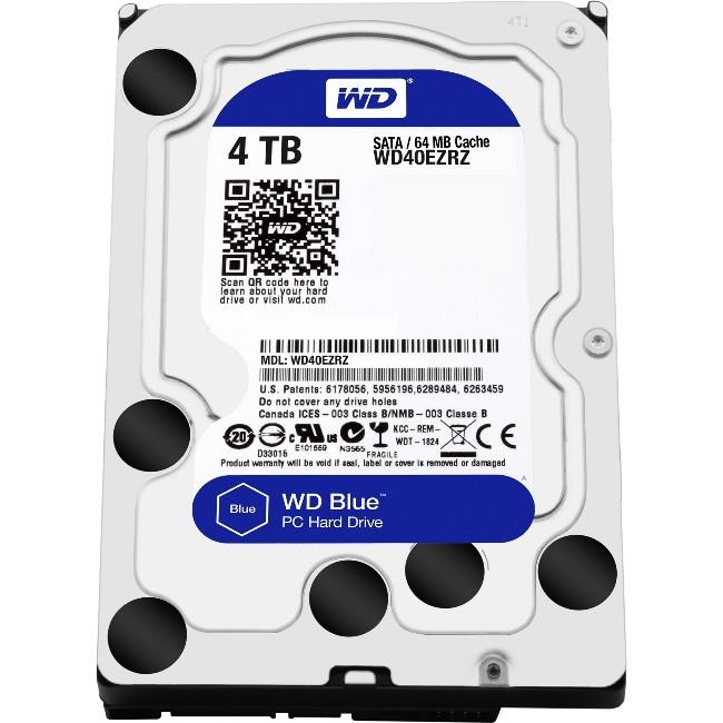 Жесткий диск для компьютера 4 Тб Western Digital Blue, SATA 3, 64Mb, 5