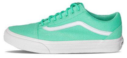Женские кеды Vans Old Skool Biscay Trainers Green True White, женские кеды, ванс . ТОП Реплика ААА класса.