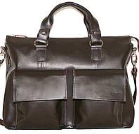 Мужская кожаная деловая сумка mk25 коричневая
