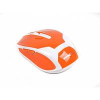 Мышь Maxxtro Mr-317-O беспроводная, USB, бело-оранжевая, мышка