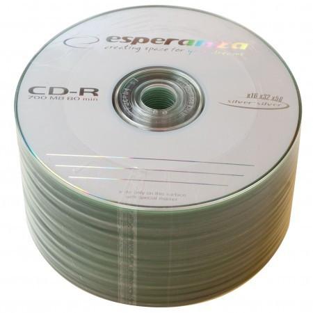 Диск CD-R 50 шт. Esperanza, 700Mb, 52x, Bulk Box