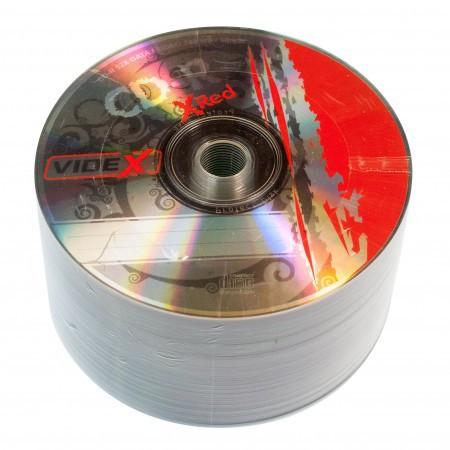 Диск CD-R 50 шт. Videx X-Red, 700Mb, 52x