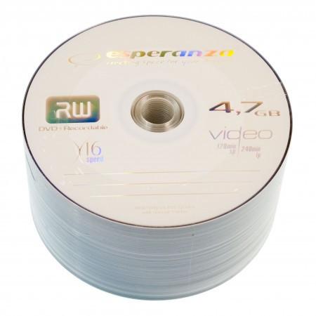 Диск DVD+R 50 шт. Esperanza, 4.7Gb, 16x, Bulk Box