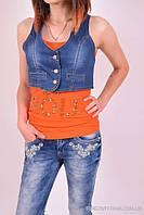 Жилетка джинсовая женская стрейчевая OFIS Размер в наличии : 48 арт.3610
