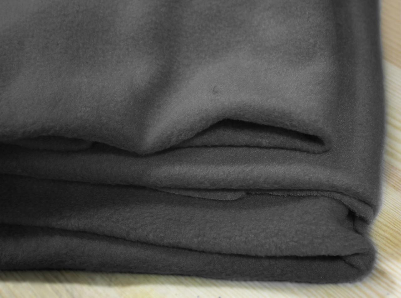 Ткань флис темно- серый оптом