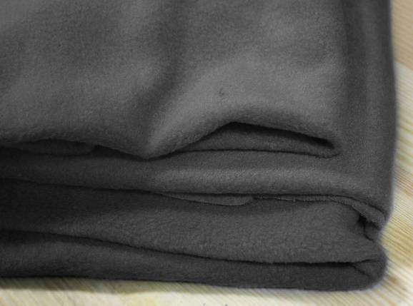Ткань флис темно- серый оптом, фото 2