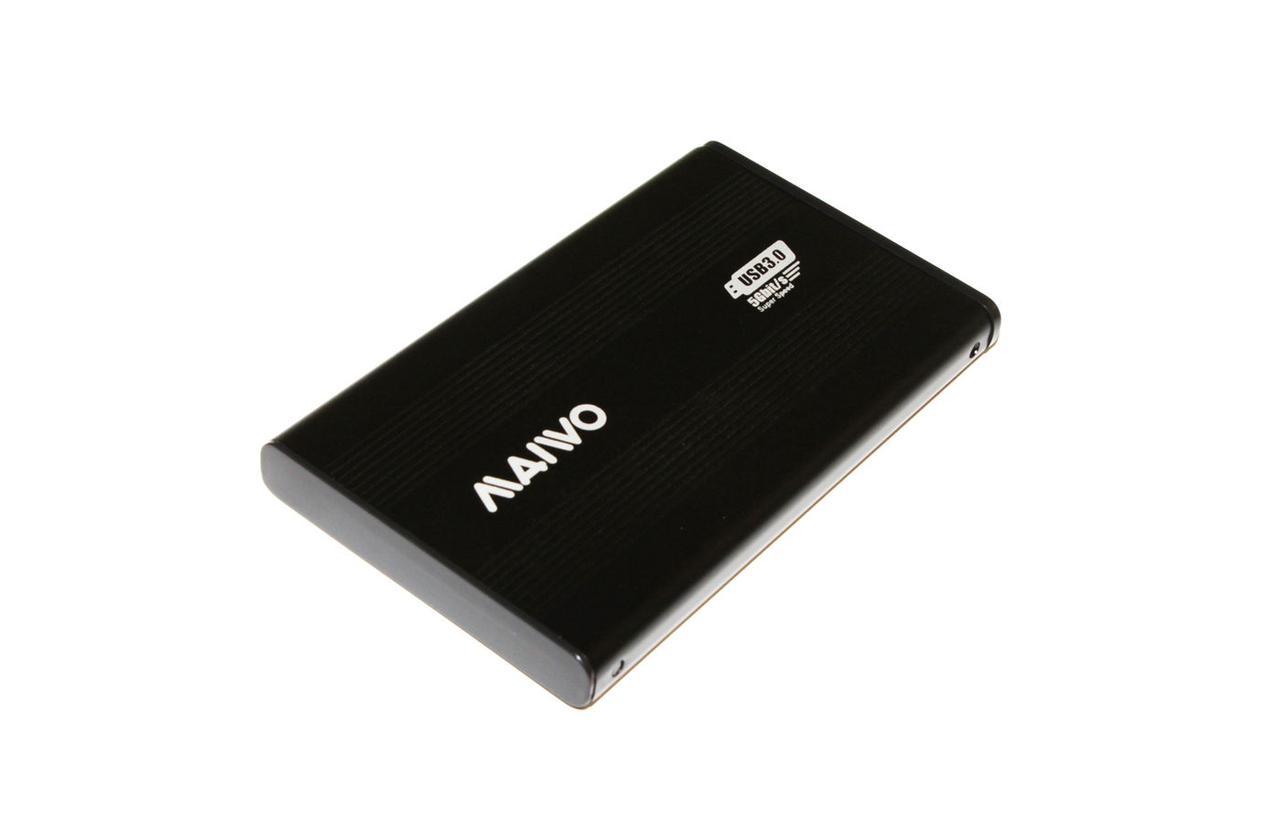 Карман внешний 2,5' Maiwo K2501A-U3S black SATA через USB3.0 на винтах алюм. черн. - Sale365 в Николаеве