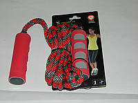 Скакалка IronMaster,плетеный канат, PP ручка+неопрен,блистер