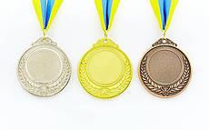 Заготовка спортивной медали с лентой HIТ 6,5 см