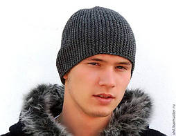 Мужские вязаные шапки