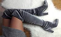 Модные велюровые сапоги-чулки,ботфорты.Реплика Вайцман