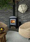 Отопительная печь-камин длительного горения FLAMINGO STAVANGER (серый), фото 5