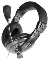 Наушники с микрофоном Gemix HP-750MV Black, 2 x Mini jack (3.5 мм), накладные, регулятор громкости, кабель 2.5 м