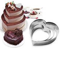 "Набор Форм "" Сердце"" Frico для выпечки торта"